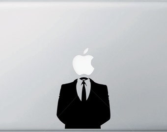 MB - Anonymous Suit - Macbook Vinyl Decal Sticker - Copyright © 2015 Yadda-Yadda Design Co. (SIZE OPTIONS) (Color Options Available)