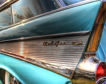Chevy Art, Chevorlet Decor, Automotive Art, Classic Car Decor, boys room decor, garage decor, Gift for him, Chevy Bel Air