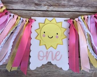 You are my Sunshine | sunshine banner | First Birthday | Sunshine smash cake photo | I am 1 | one