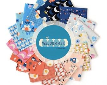 Welsummer Fabric Bundle - fat quarter, fat eighth, quarter yard, half yard bundles - by Kim Kight for Cotton + Steel - 18 prints