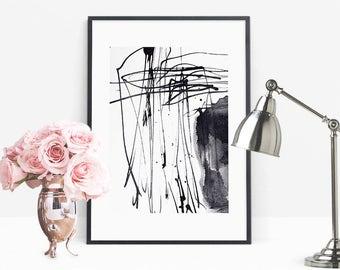 Modern Abstract Art, Printable Art, Abstract Prints, Digital Paintings, Ink Art Prints, Large Art Printable, Modern Decor, Minimalist Prints