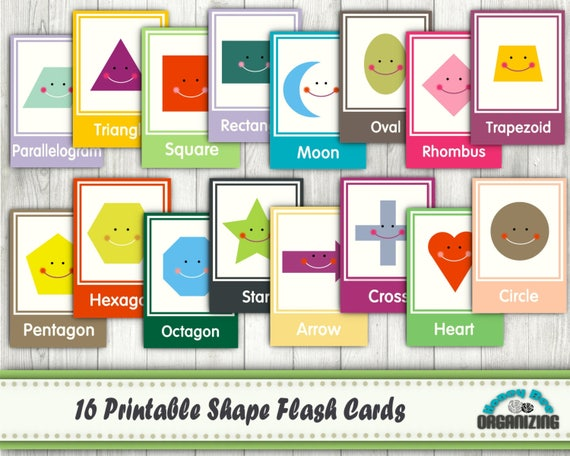 Printable Shape Flash Cards Educational Printables Home