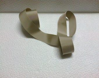 Ribbon grosgrain rigid beige 38mm wide (stranded 842)