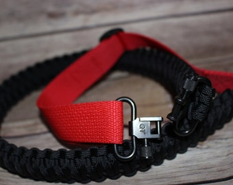 Adjustable Paracord Sling,Gun Sling,Quick Release,Steel Sling Swivel,Detachable Gun Sling,Personal Safety Paracord Sling, Rifle Sling