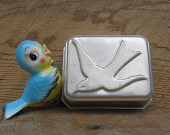 Vintage Tin Molds Flying Birds Set of 2 Rectangular Pans