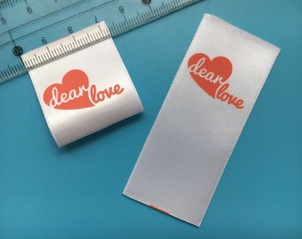 300 Satin Printed labels, Personalized satin printing tags, Custom printing tags, Custom labels, Garment labels