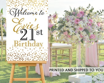 21st Birthday Welcome Sign - Birthday Sparkle Sign - Welcom Sign 30th Birthday, Foam Board Welcome Sign, 50th Birthday  Welcome Sign