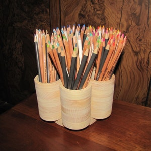 7 Cup STUDIO Rotating Colored Pencil Holder, Colored Pencil Organizer, Colored Pencil Storage, Holds 200+ Colored Pencils, Gel Pens Markers