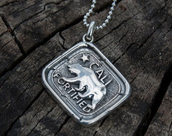 Califortified, Californian Talisman, Sterling Silver