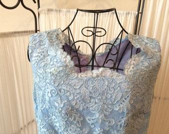 Vintage Blue Lace Dress