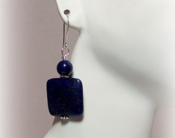Velvet Blues – Lapis Lazuli Earrings – Deep Blue Earrings