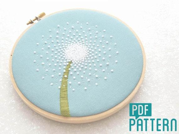 Dandelion embroidery pattern diy hand embroidery pdf dandelion embroidery pattern diy hand embroidery pdf pattern flower hoop art needlecraft design instant download dandelion clock art dt1010fo