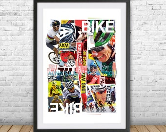 Cycling Poster, Gift for cyclist, Bike Poster, Poster in Bicicletta, Ciclismo, ciclismo professionista, Cycling Poster, Radfahren Poster