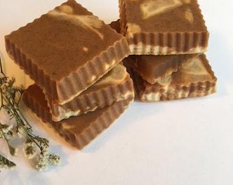 Handmade Pumpkin Pie Soap With Vanilla Cream