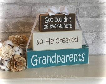 "Pregnancy Announcement. Gift for Nana. Wood Block Stack: ""God couldn't be everywhere, so He created Nanas"" - Grandma, Nana"