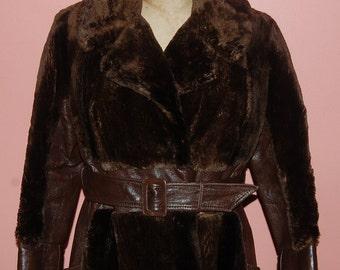 Mod Faux Fur 60s 70s Long Coat Ultimate Vintage Luxury Coat