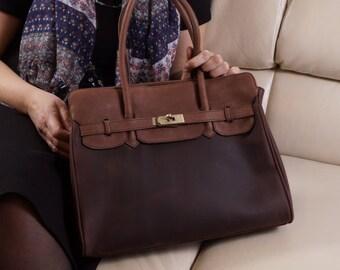 Sac en cuir, sac à main cuir, sac bandoulière en cuir, sac à main en cuir, cuir sac fourre-tout, sac besace en cuir, sac pour ordinateur portable, Color Block, Ilita