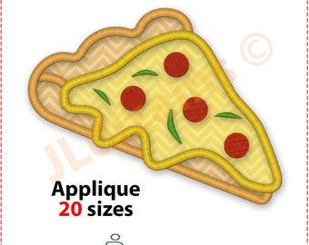 Pizza Slice Applique Embroidery Design. Pizza embroidery design. Embroidery applique pizza slice. Pizza applique machine embroidery designs