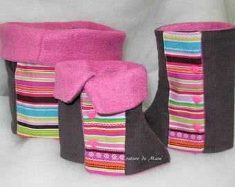 Pink set: leggings and snood 4t