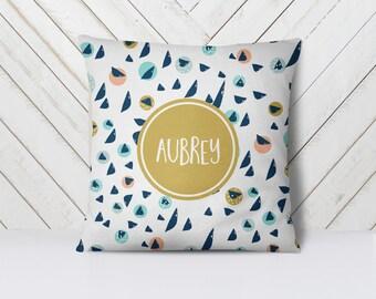 Kids Pillow, Kids Decor, Nursery Decor, Nursery Pillow, Throw Pillow, Pillow Cover,  Dorm Decor, Dorm Pillow, Mod Moon-Pick Your Colors