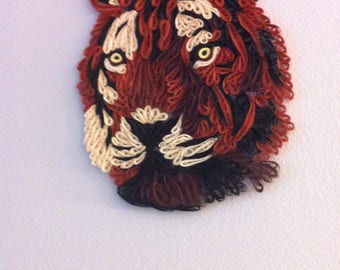 quilled tiger head