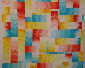 Shell #12 (Candy) Art Quilt