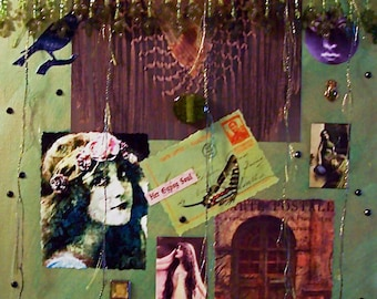 Mixed media collage - Her Gypsy Soul