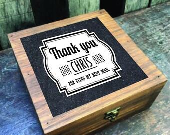 CUSTOM Groomsmen gift labels - best man gift, groomsman gift - Groomsmen gift stickers - Thank you -Wedding, Groom, Bachelor Party