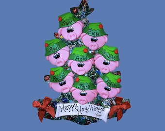 Pig Elf (8) ornament Family tree
