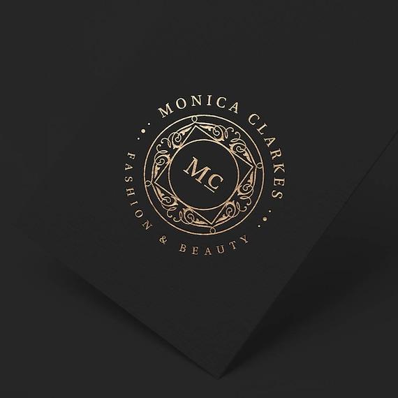 Fashion Logo Design, Silver Logo, Boutique Logo, Elegant Logo, Fashion Blog Logo, Wedding Logo, Seal Logo, Business Stamp Logo, Artist Logo