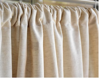 Linen curtain fabric | Etsy