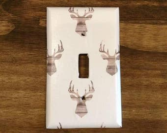 Deer Silhouette Light Switch Cover, Man Cave Decor, Deer Home Decor, Hunting Light Switch Cover, Deer Switchplate, Buck Light Switch, Hunter