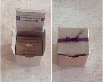 Rose Gold Heart Knot Ring Bridesmaid Gift