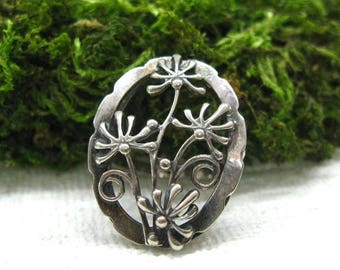 Russian Vintage rings unique womens statement ring Birthhday Anniversary Valentine gift Art Nouveau jewelry silver filigree Dandelion ring