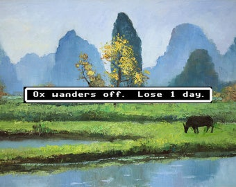 Thrift Store Art - Oregon Trail