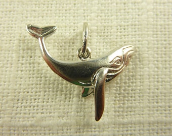 Vintage Sterling Blue Whale Charm