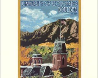 CU - Univ. of Colorado Giclée Art Print: Colorado Series, The Bungalow Craft by Julie Leidel, WPA-Style Poster Art, Arts & Crafts Movement