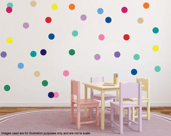 Polka Dots Stickers (1 inch) Polka Dot Circle Wall Decals, Modern Wall Stickers, Decoration Polka Dot, Polka Dots Home Decor, Nursery decals
