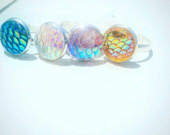 Iridescent mermaid rings