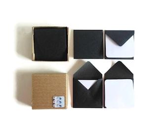 Black Mini Stationery Set