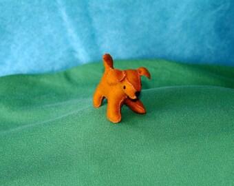 Waldorf Miniature Puppy Doll (Chestnut), Handmade From Natural Materials