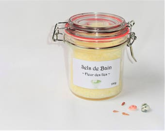 Scented bath salts and Epsom Salt - flower Islands