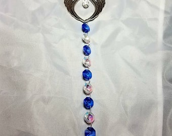 Guardian Angel Wings Suncatcher with Asfour Lead Crystals