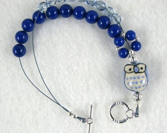 Owl Abacus Bracelet for Knitting and Crochet - Item No. 996