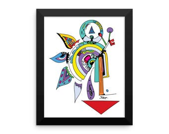 Framed poster,abstract, artwork, abstract art, colorful, modern art,hippie