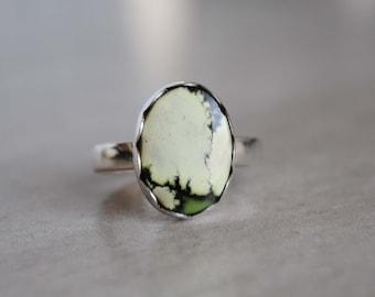 SIZE 7, Damele Variscite Ring, Sterling Silver Damele Variscite Jewelry