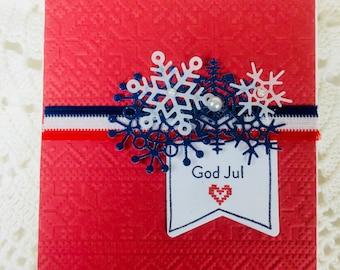 Warm Sweater Christmas Card God Jul