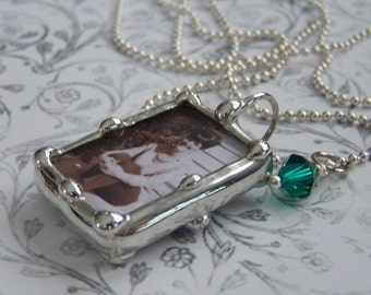 Photo Jewelry Soldered Charm Personalized Pendant