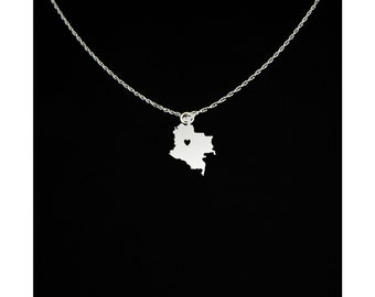Colombia Necklace - Colombia Jewelry - Colombia Gift