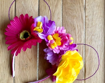 Big Bright Floral Wire Mouse Ears